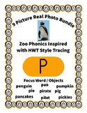 Emergent Reader Alphabet P ~ Real Pictures ~ Letter P ~ Zo