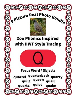 Emergent Reader Alphabet Q ~ Real Pictures ~ Letter Q ~ Zo