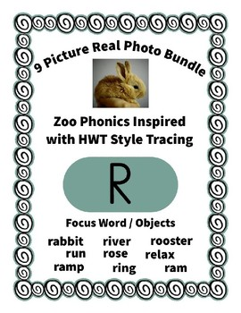 Emergent Reader Alphabet R ~ Real Pictures ~ Letter R ~ ZooPhonics Inspired HWT