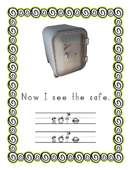 Emergent Reader Alphabet S ~ Real Pictures ~ Letter S ~ ZooPhonics Inspired HWT