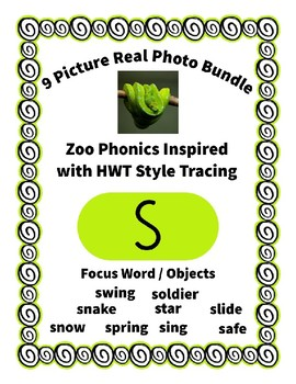 Emergent Reader Alphabet S ~ Real Pictures ~ Letter S ~ Zo