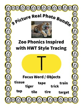 Emergent Reader Alphabet T ~ Real Pictures ~ Letter T ~ ZooPhonics Inspired HWT