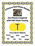 Emergent Reader Alphabet T ~ Real Pictures ~ Letter T ~ Zo