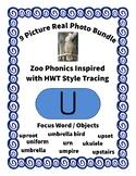 Emergent Reader Alphabet U ~ Real Pictures ~ Letter U ~ Zo