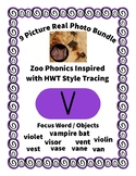 Emergent Reader Alphabet V ~ Real Pictures ~ Letter V ~ Zo
