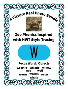 Emergent Reader Alphabet W ~ Real Pictures ~ Letter W ~ Zo