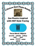 Emergent Reader Alphabet W ~ Real Pictures ~ Letter W ~ ZooPhonics Inspired HWT