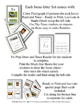 Emergent Reader Alphabet X ~ Real Pictures ~ Letter X ~ ZooPhonics Inspired HWT