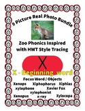 Emergent Reader Alphabet X ~ Real Pictures ~ Letter X ~ Zo