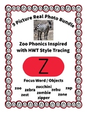 Emergent Reader Alphabet Z ~ Real Pictures ~ Letter Z ~ ZooPhonics Inspired HWT