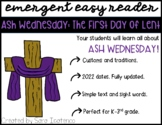 "Emergent Easy Reader: ""Ash Wednesday: The First Day of Lent"""