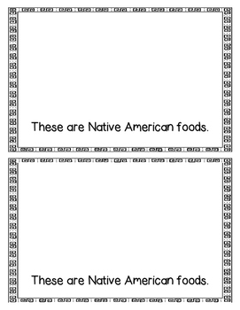 Emergent Reader/Assessment: Native Americans and Their Food, Shelter, & Clothing