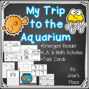 Emergent Reader My Trip to the Aquarium with L.A. and Math Activities 50% off!