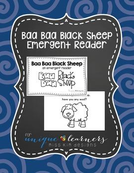 Emergent Reader: Baa Baa Black Sheep