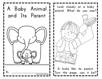 Emergent Reader {Baby Animals Look Like Their Parent} Science
