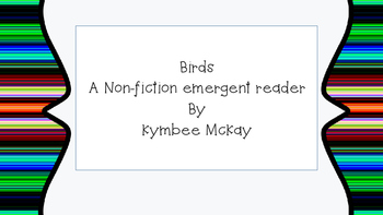 Emergent Reader - Birds