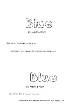 Emergent Reader: Blue