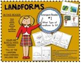 What Type of Landform Is It? Reader #2 Kindergarten & First Social Studies