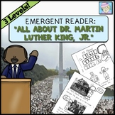 Martin Luther King Jr Book Kindergarten 1st Grade with REAL PHOTOS in 3 Levels