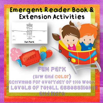 Emergent Reader Book Fun Park Week long Activities Special Ed
