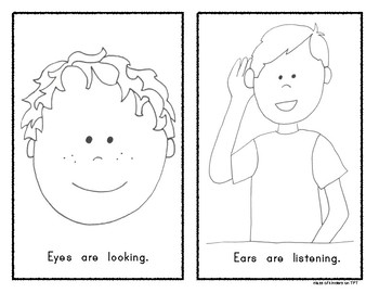 Good Listener Expectations {Give Me 5} Emergent Reader for Kindergarten
