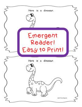 Emergent Reader Book & Lapbook Dinosaurs