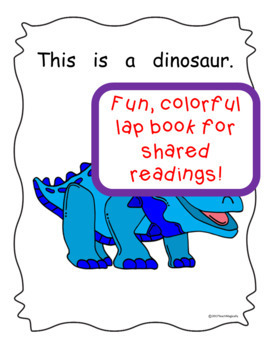 Emergent Reader Book & Lapbook Dinosaurs