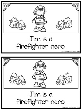 Emergent Reader Book - The Firefighter
