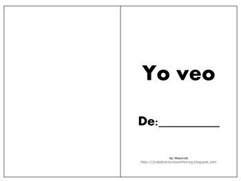 Emergent Reader Book-Yo veo