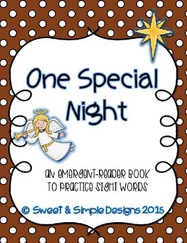 Emergent-Reader Book for Christmas to practice sight words.
