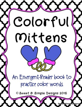 Emergent-Reader Book for Winter and Christmas To Practice Color Words