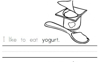 Emergent Reader Sight Word Booklet - I Like To Eat