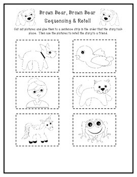 Emergent Reader: Brown Bear, Brown Bear & Sequencing & Retelling Activity