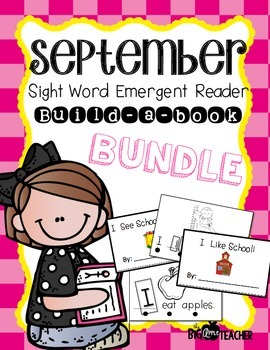 Emergent Reader Build-A-Book September Bundle
