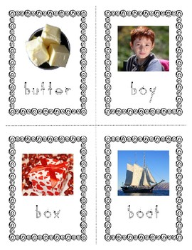 Emergent Reader Bundle + ~ Real Pictures for the Letter B ~ ZooPhonics Inspired