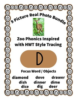 Emergent Reader Bundle + ~ Real Pictures for the Letter D ~ ZooPhonics Inspired