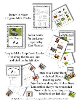 Emergent Reader Bundle + ~ Real Pictures for the Letter E ~ ZooPhonics Inspired