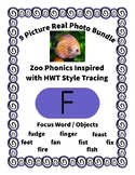 Emergent Reader Bundle + ~ Real Pictures for the Letter F ~ ZooPhonics Inspired