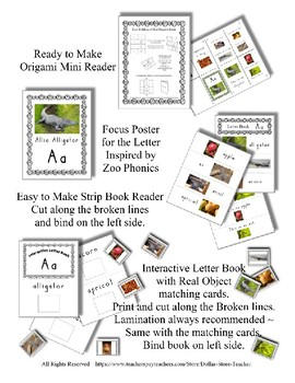 Emergent Reader Bundle + ~ Real Pictures for the Letter M ~ ZooPhonics Inspired