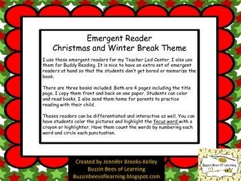 Emergent Reader Christmas/Winter Theme