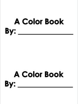 Emergent Reader Color Book