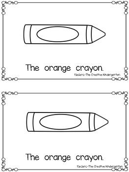 Emergent Reader: {Colorful Crayons}