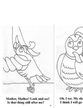 Emergent  Reader Coloring Storybook - Quincy Quail