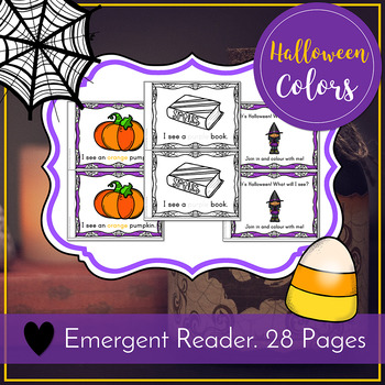 Colors Emergent Reader - Halloween