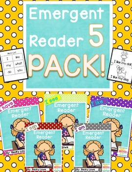 Emergent Reader Combo Pack  {I like, I see, I have, I am, I can}