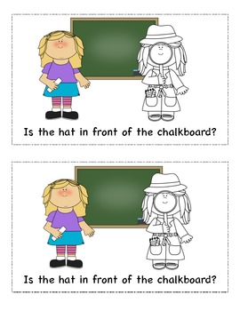 Emergent Reader Common Core Positional Words-Detective Sam-Missing Birthday Hat