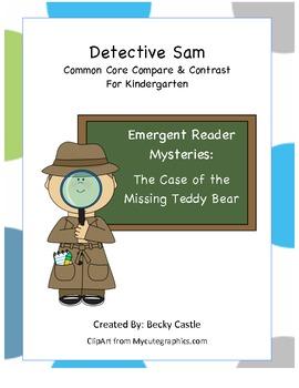 Emergent Reader Common Core Venn-Diagram Detective Sam Missing Teddy