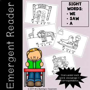 Emergent Reader / Concepts of Print / Sight Words - We Saw A