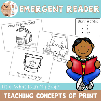 Emergent Reader / Concepts of Print / Sight Words - is, in, my