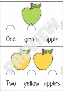 Emergent Reader Counting Apples Puzzle
